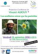 Affiche conférence Vincent Albouy CPIE Clermont-Dômes